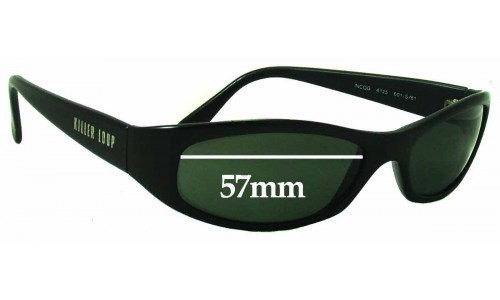 Sunglass Fix Sunglass Replacement Lenses for Killer Loop K4125 Incog - 57mm Wide