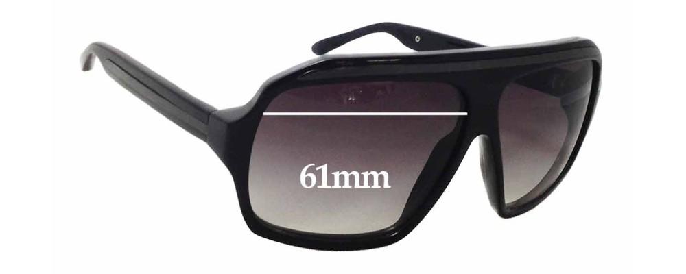 3da5f2342fe Ksubi Old Sunglass Replacement Lenses - 61mm wide x 47mm tall ...
