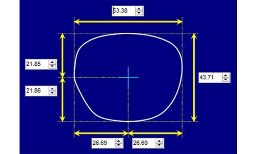Sunglass Fix Sunglass Replacement Lenses for Karen Walker Thunder Bolts - 53mm Wide
