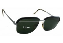 Sunglass Fix Sunglass Replacement Lenses for L'AMY Yannick - 52mm Wide x 46mm Tall