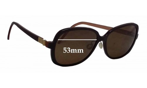Sunglass Fix Sunglass Replacement Lenses for Lindberg T94-125-8559 - 53mm Wide