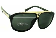 Sunglass Fix Sunglass Replacement Lenses for Louis Vuitton Evidence Millionaire Z0105W - 62mm Wide