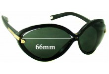 Sunglass Fix Sunglass Replacement Lenses for Louis Vuitton Daphne Z0417W - 66mm Wide