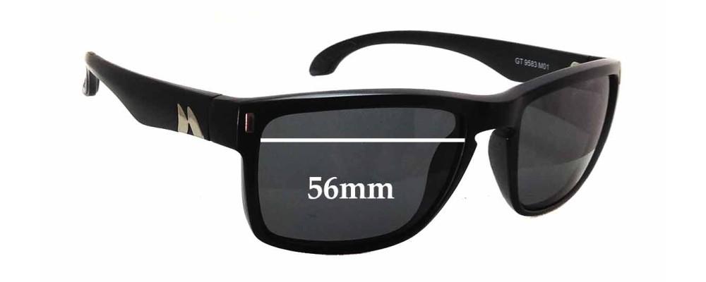 3dc3a65450 Mako GT 9583 Sunglass Replacement Lenses - 56mm wide x 41mm tall ...