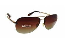 Sunglass Fix Sunglass Replacement Lenses for Marc by Marc Jacobs MMJ 164/S - 60mm Wide x 52mm Tall