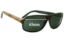 Sunglass Fix Sunglass Replacement Lenses for Martin & Macarthur Moorea (Koa Wooden) - 63mm Wide