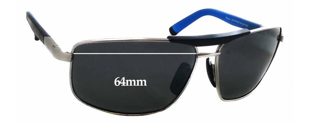 Sunglass Fix Sunglass Replacement Lenses for Maui Jim MJ271 Keanu - 64mm Wide