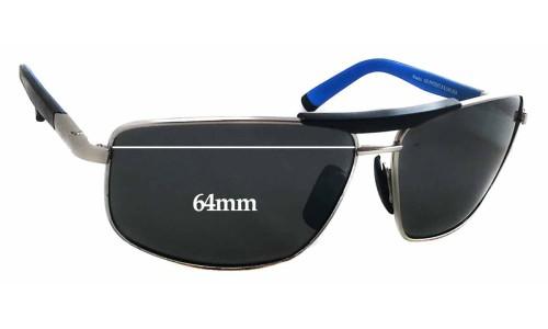 Sunglass Fix Sunglass Replacement Lenses for Maui Jim 271 Keanu - 64mm Wide