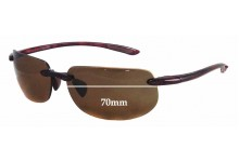 Sunglass Fix Sunglass Replacement Lenses for Maui Jim MJ912 Banyans - RX - 70mm Wide *(Newer Version - Uses Gaskets for Bigger Holes)*