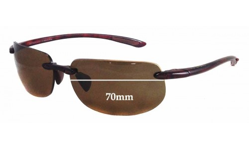Sunglass Fix Sunglass Replacement Lenses for Maui Jim MJ912 Banyans RX - 70mm Wide *(Newer Version - With Gaskets for Bigger Holes)