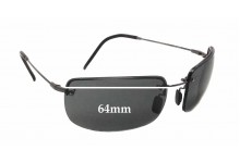Sunglass Fix Sunglass Replacement Lenses for Maui Jim MJ351 Moana - 64mm Wide x 40mm Tall