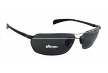 Sunglass Fix Sunglass Replacement Lenses for Maui Jim Maliko Gulch MJ324 - 65mm Wide x 39mm Tall