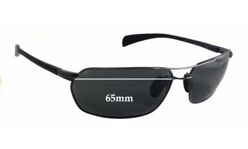 Sunglass Fix Sunglass Replacement Lenses for Maui Jim Gulch MJ324 - 65mm wide - 39mm tall