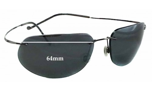 Sunglass Fix Sunglass Replacement Lenses for Maui Jim MJ502 Kapalua Replacement Sunglass Lenses - 64mm Wide *Please measure as there are size variations*