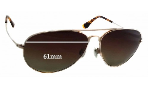 Sunglass Fix Sunglass Replacement Lenses for Maui Jim Mavericks MJ264 - 61mm wide - 50mm tall