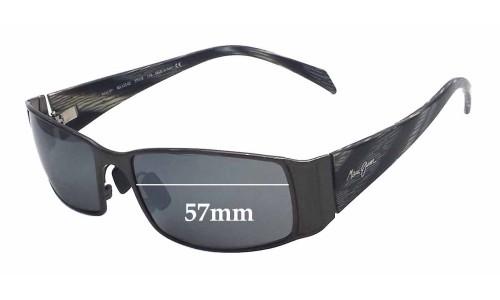 Sunglass Fix Sunglass Replacement Lenses for Maui Jim MJ122 Nalu - 57mm Wide