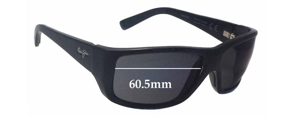 d940ad147f Maui Jim MJ123 WASSUP Sunglass Replacement Lenses - 60.5mm Wide ...