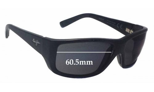Sunglass Fix Sunglass Replacement Lenses for Maui Jim MJ123 WASSUP - 60.5mm Wide