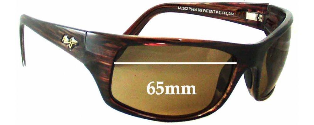 b88df84b5109f Sunglass Fix Sunglass Replacement Lenses for Maui Jim Peahi MJ202 - 65mm  Wide