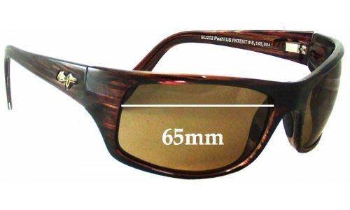 Sunglass Fix Sunglass Replacement Lenses for Maui Jim Peahi MJ202 - 65mm Wide