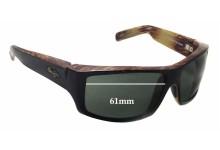 Sunglass Fix Sunglass Replacement Lenses for Maui Jim Kaimana MJ204 - 61mm Wide x 38mm Tall