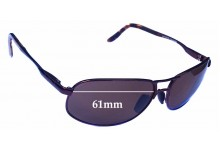 Sunglass Fix Sunglass Replacement Lenses for Maui Jim MJ205 Bayfront - 61mm Wide