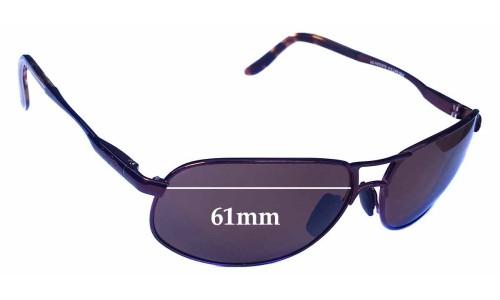 Sunglass Fix Sunglass Replacement Lenses for Maui Jim MJ205 Bayfront - 61mm wide