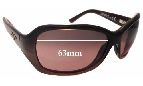 Sunglass Fix Sunglass Replacement Lenses for Maui Jim Pearl City MJ214 - 63mm Wide