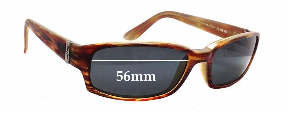 Sunglass Fix Sunglass Replacement Lenses for Maui Jim MJ220 Atoll - 56mm Wide x 32mm Tall