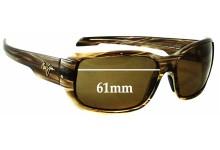 Sunglass Fix Sunglass Replacement Lenses for Maui Jim MJ226 Hamoa Beach - 61mm Wide