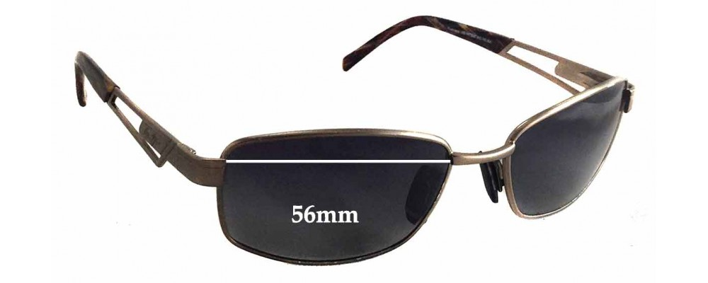 Sunglass Fix Sunglass Replacement Lenses for Maui Jim MJ227 - 56mm Wide x 35mm Tall