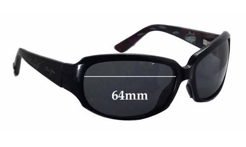 Sunglass Fix Sunglass Replacement Lenses for Maui Jim MJ234 Yellow Fin - 64mm wide