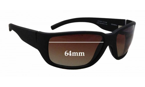 Sunglass Fix Sunglass Replacement Lenses for Maui Jim MJ235 Seawall - 64mm Wide
