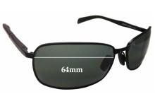Sunglass Fix Sunglass Replacement Lenses for Maui Jim Long Beach MJ240 - 64mm Wide