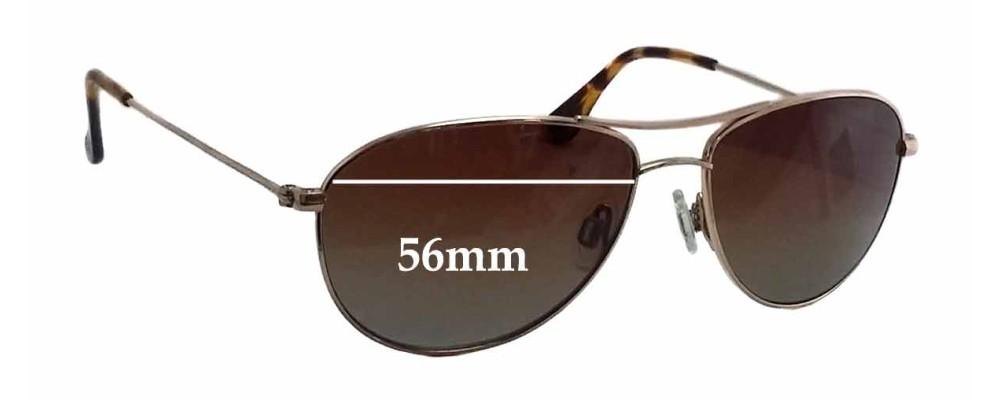 Sunglass Fix Sunglass Replacement Lenses for Maui Jim MJ245 Baby Beach - 56mm Wide