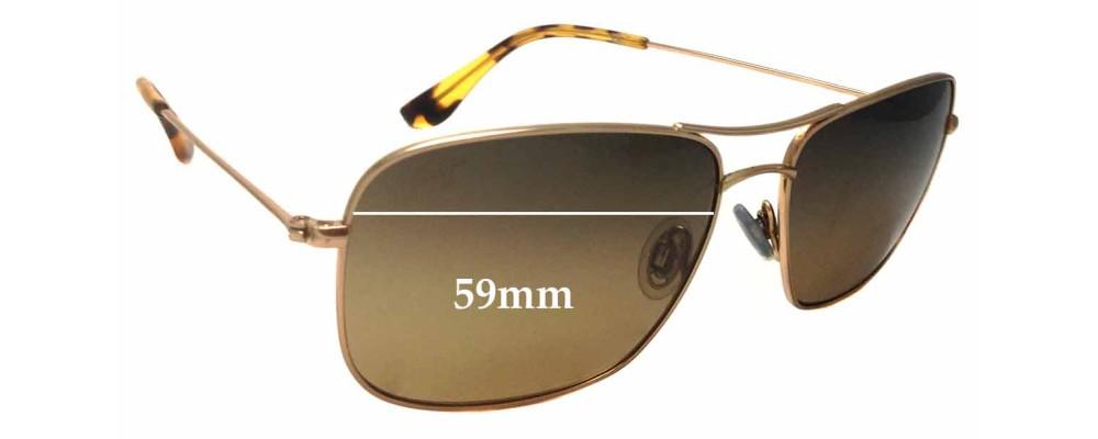Sunglass Fix Sunglass Replacement Lenses for Maui Jim MJ246 Wiki Wiki - 59mm Wide