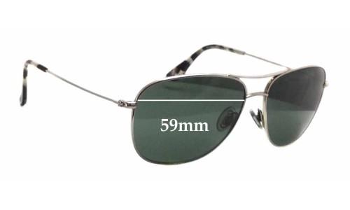 Sunglass Fix Sunglass Replacement Lenses for Maui Jim MJ247 Cliff House - 59mm wide