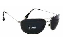 Sunglass Fix Sunglass Replacement Lenses for Maui Jim MJ248 Hideaways - 64mm Wide