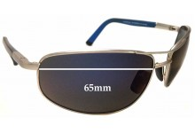 Sunglass Fix Sunglass Replacement Lenses for Maui Jim MJ272 North Point - 65mm Wide
