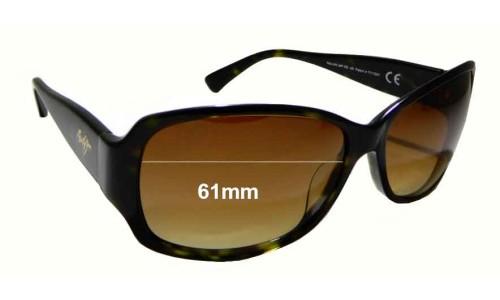 Sunglass Fix Sunglass Replacement Lenses for Maui Jim Nalani MJ295 - 61mm Wide