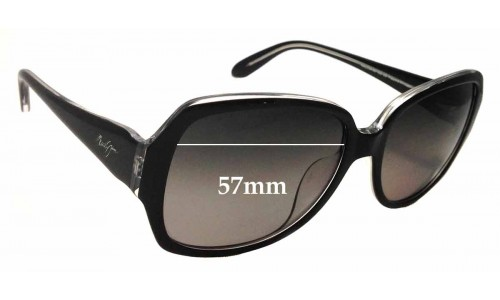 Sunglass Fix Sunglass Replacement Lenses for Maui Jim MJ299 Kalena - 57mm Wide