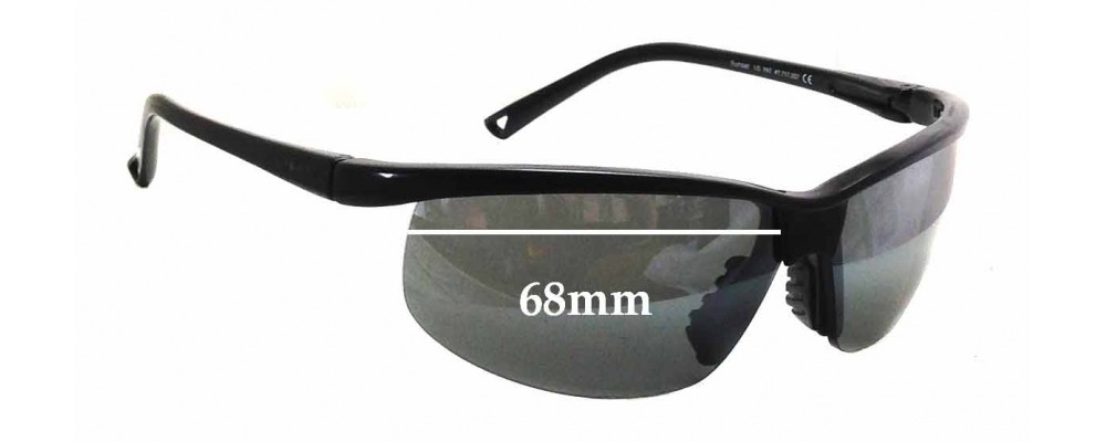 Sunglass Fix Sunglass Replacement Lenses for Maui Jim Sunset MJ402 - 68mm Wide