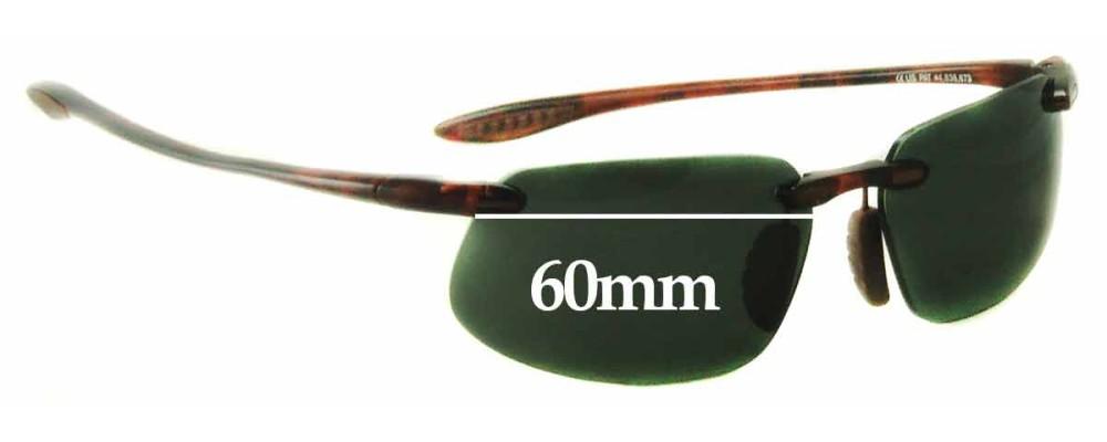 11ee429f2c403 Maui Jim MJ409 Prescription Replacement Lenses 61mm by The Sunglass Fix®  Australia