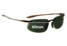 Sunglass Fix Sunglass Replacement Lenses for Maui Jim MJ409 Kanaha Prescription Version Frames - non prescription Lens Replacement - 60mm Wide