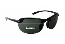 Sunglass Fix Sunglass Replacement Lenses for Maui Jim MJ413 Hanalei - 67mm Wide x 41mm Tall
