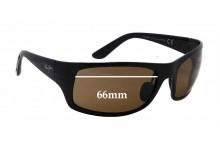 Sunglass Fix Sunglass Replacement Lenses for Maui Jim MJ419 Haleakala - 66mm Wide