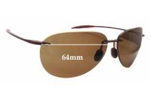 Sunglass Fix Sunglass Replacement Lenses for Maui Jim Sugar Beach MJ421 - 62mm & 64mm Wide