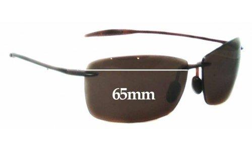 Sunglass Fix Sunglass Replacement Lenses for Maui Jim Lighthouse MJ423 - 65mm Wide