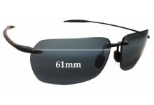 Sunglass Fix Sunglass Replacement Lenses for Maui Jim Banzai MJ425 - 61mm Wide