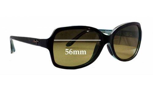 Sunglass Fix Sunglass Replacement Lenses for Maui Jim MJ700 Cloud Break - 56mm wide